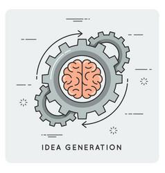 Idea generation linear flat style concept vector