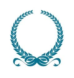 Laurel wreath with heraldic ribbons vector