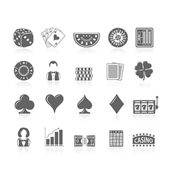 Black icons - gambling vector