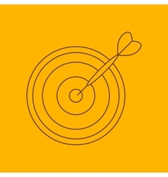 Darts line icon vector