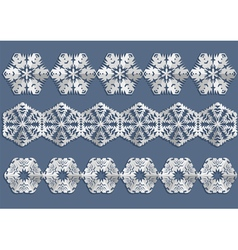Snowflake christmas decorations vector