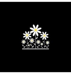 Black floral background vector image