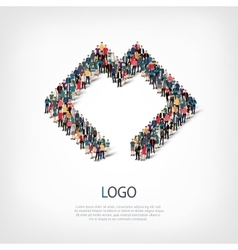 Logo people 3d vector