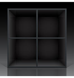 Shelf black vector