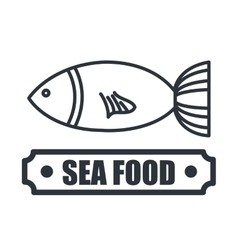 Delicious sea food isolated icon design vector