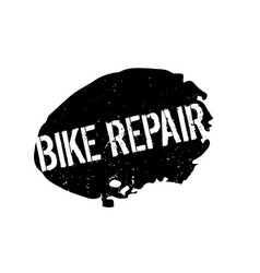Bike repair rubber stamp vector
