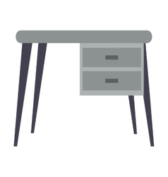 Desk office work place icon vector