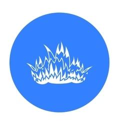 Fire icon black Single silhouette fire equipment vector image