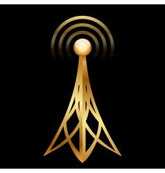 gold antenna vector image vector image