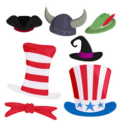 hats different funny caps for party holidays and vector image vector image