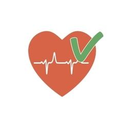 Heartbeat OK Icon vector image vector image