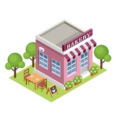 Isometric bakery vector image vector image