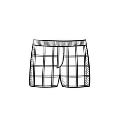 Male underpants hand drawn sketch icon vector