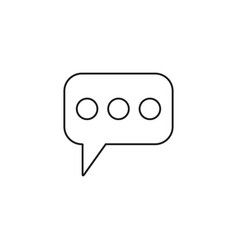 message and speech bubbles line icon modern sign vector image vector image