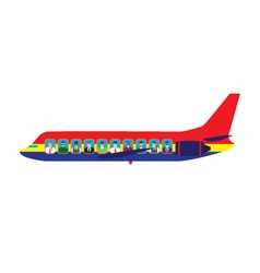 Passengers on the plane vector
