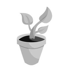 Pot tree icon black monochrome style vector