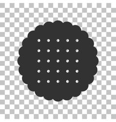 Pyramid sign dark gray icon on vector