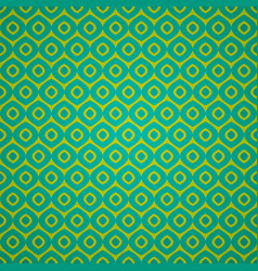 seamless geometric pattern in retro green colors vector image vector image