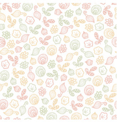 Seamless pattern of fantasy flowers vector