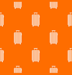 suitcase on wheels pattern seamless vector image