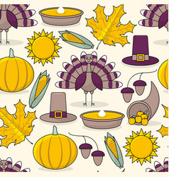 thanksgiving day seamless pattern vector image vector image