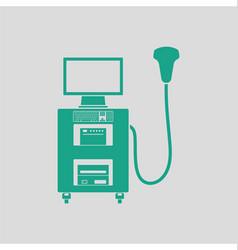Ultrasound diagnostic machine icon vector
