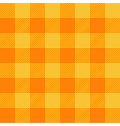 Yellow Orange Chessboard Background vector image vector image