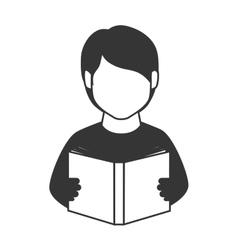 Book reading person man education icon vector
