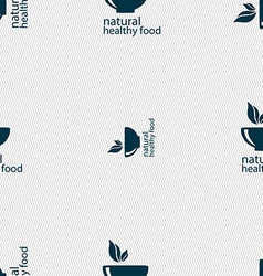 healthy food concept sign Seamless pattern with vector image