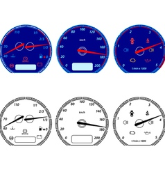 Set of car speedometers for racing design vector