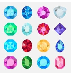 Jewels or precious diamonds gem set vector