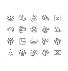 Line abstract product icons vector