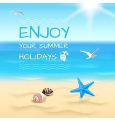 Seaside background layout vector image