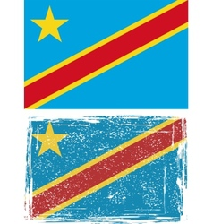 Congo grunge flag  grunge effect can be cleaned vector
