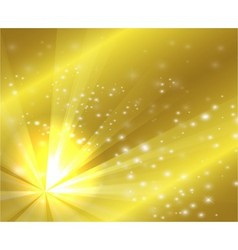 A golden color design with a burst and rays vector