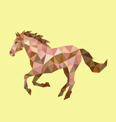 Horse low polygon vector