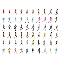 runners collection vector image