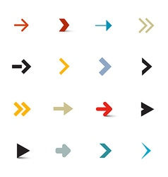 Simple arrows set on white background vector