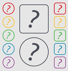 Question mark sign icon help symbol faq sign vector