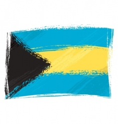 Grunge bahamas flag vector