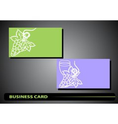 Business card with a bunch of grapes vector