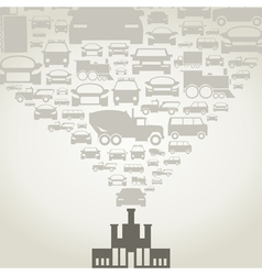 Automobile factory vector image