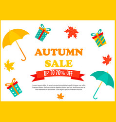 autumn sale retail template promotion advertising vector image vector image