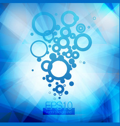 Blue water and bubbles going up vector