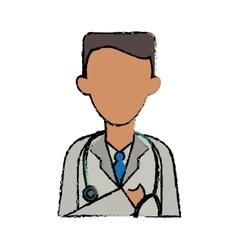 Cartoon doctor healthcare professional clinic vector