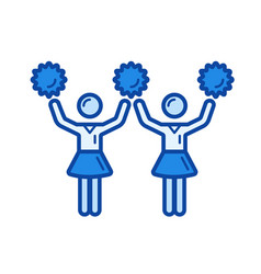 cheerleading line icon vector image