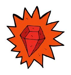 comic cartoon huge ruby vector image vector image