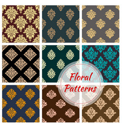 Damask floral seamless pattern background vector