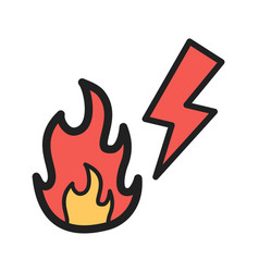 Electricity fire vector