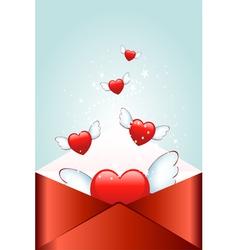 flying heart vector image vector image